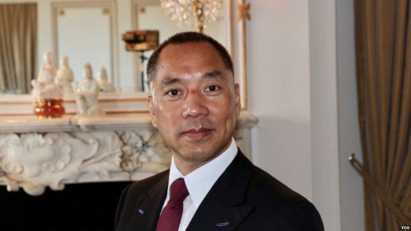 流亡美國的中國富豪郭文貴在位於紐約第五大道的住所內。(美國之音)