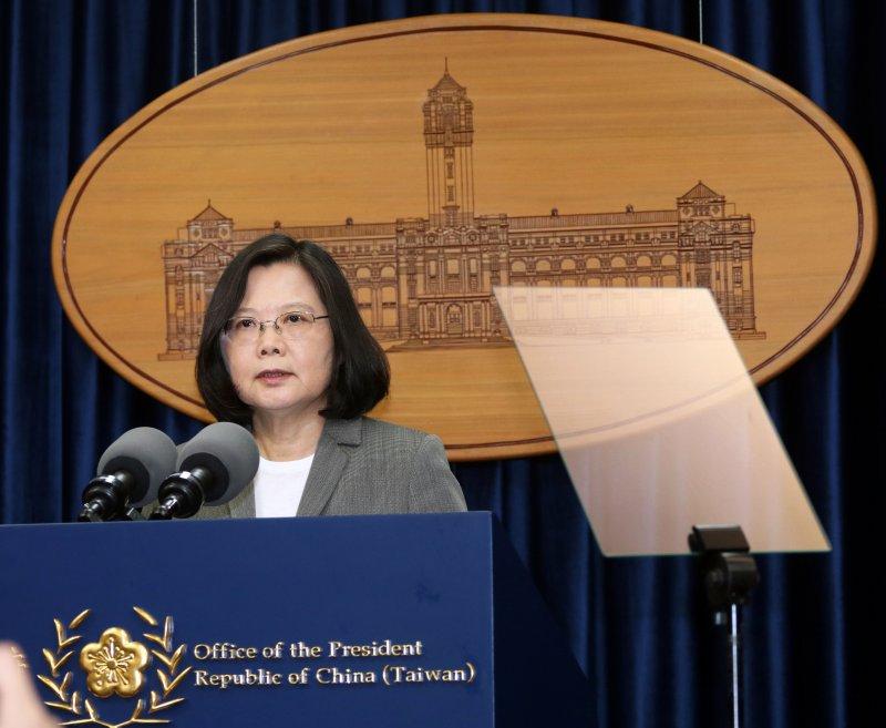 20170613-總統蔡英文下午在總統府發表談話,針對巴拿馬在台灣時間今天上午宣布與中國大陸建交,表達我國立場。(蘇仲泓攝)
