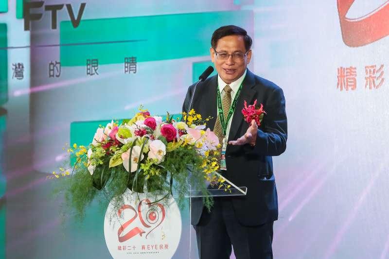 20170616-民視董事長郭倍宏16日出席「民視20周年系列活動」,並上台發言致詞。(顏麟宇攝)