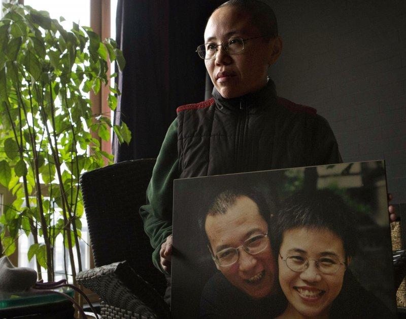 諾貝爾和平獎得主、中國異議人士劉曉波的妻子劉霞,攝於2012年12月6日(AP)
