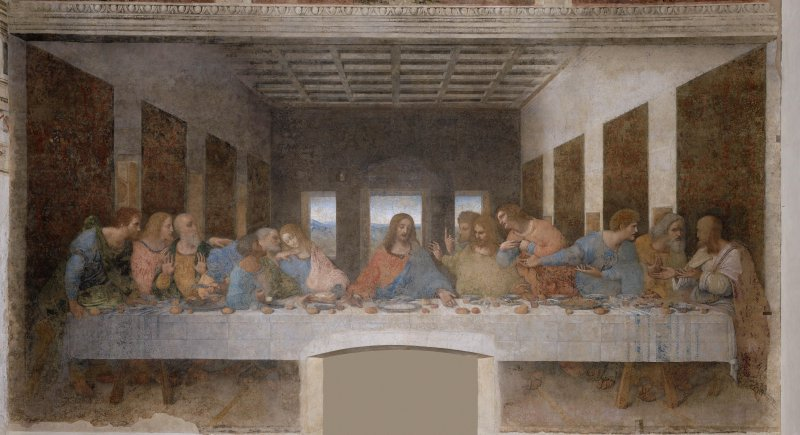 達文西著名作品《最後的晚餐》(圖/維基百科)