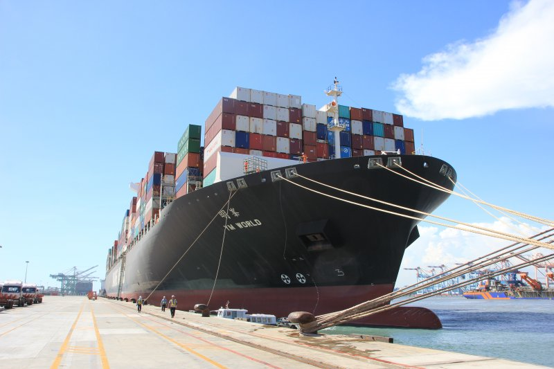 安平港海運快遞專區,貨物通關預期將更為便利順暢。(圖/臺灣港務高雄分公司提供)