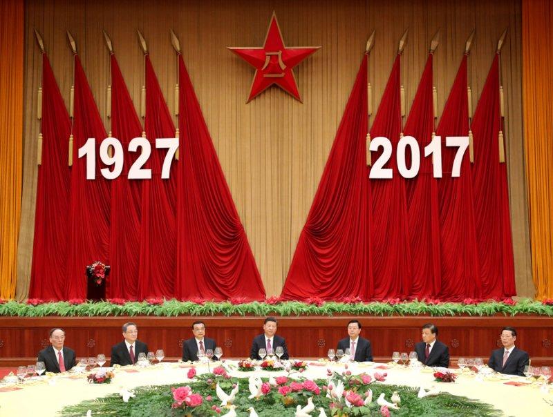 解放軍建軍90周年紀念活動,中國國家主席習近平出席演說。(取自網路)