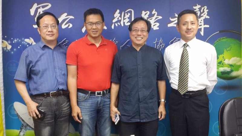 20170804-全國公務人員協會理事長李來希(右二)與安定力量聯盟主席孫繼正(右)。(取自李來希臉書)