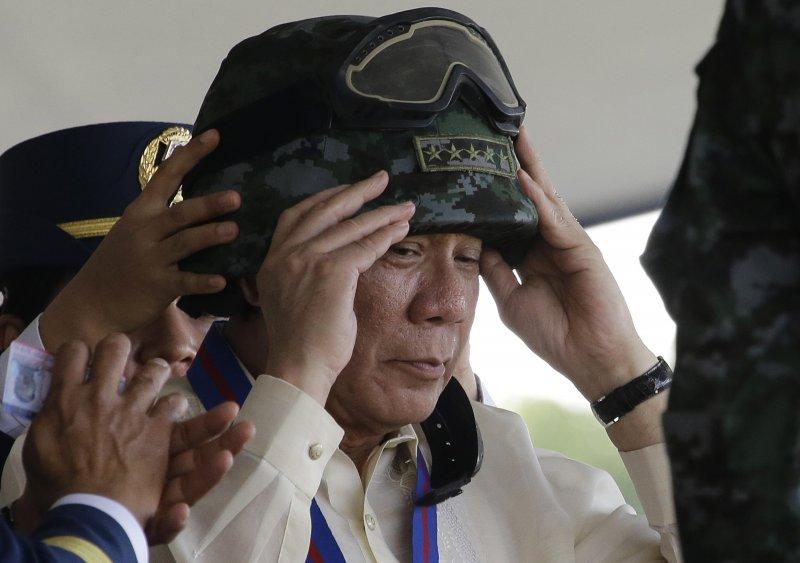菲律賓總統杜特蒂。(美聯社)