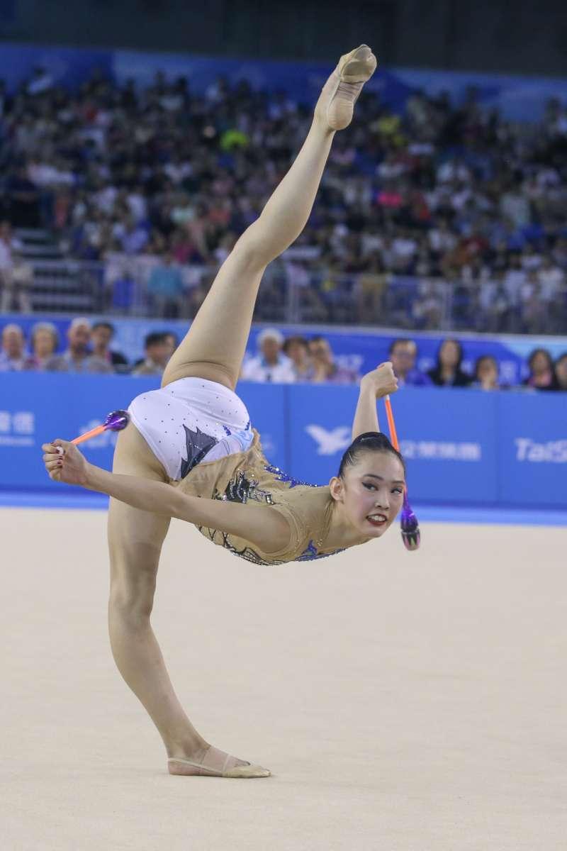 JPN-日本選手參與20170829-圖集-韻律體操-棒及帶勁與美的競技。(陳明仁攝)