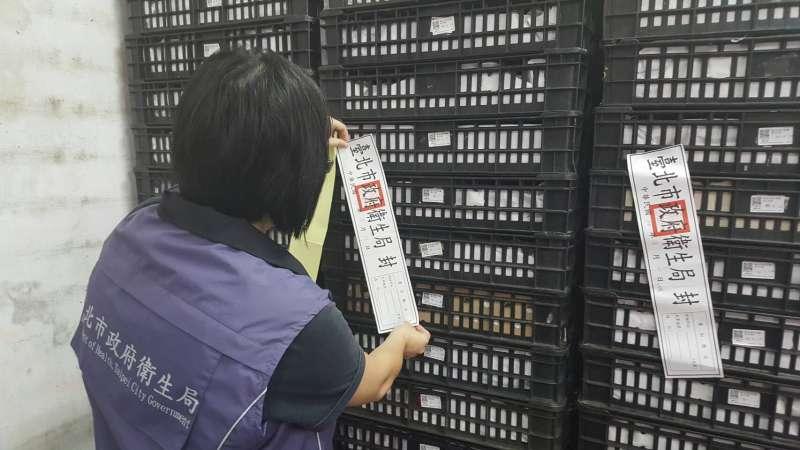 20170830台北市衛生局查封永吉蛋行庫存雞蛋。(取自台北市衛生局網站)