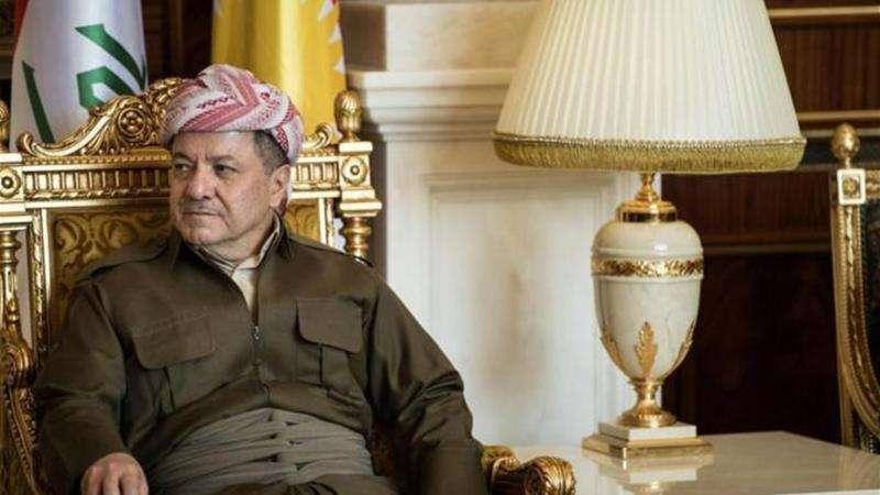 伊拉克庫德自治區主席巴爾札尼,堅持不推遲庫德族獨立公投。(美聯社)
