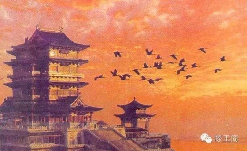 滕王閣序的「落霞與孤鶩齊飛、秋水共長天一色」,百代以下依舊可以轉借引用。( 微信號)
