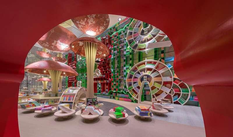 色彩繽紛的兒童圖書館。(圖/瘋設計提供)