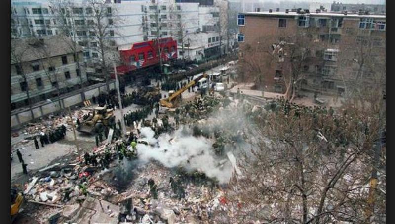 河北石家�f的「3•16」特大爆炸案。(互�影倏疲�