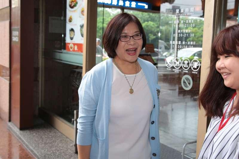20171012-立委管碧玲12日出席民進黨高雄市長提名徵詢作業,首波協調會。(顏麟宇攝)