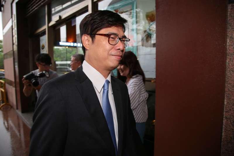 20171012-立委陳其邁12日出席民進黨高雄市長提名徵詢作業,首波協調會。(顏麟宇攝)