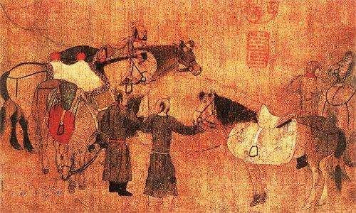 古代畫作中的金代女真人形象。(取自澎派新聞)