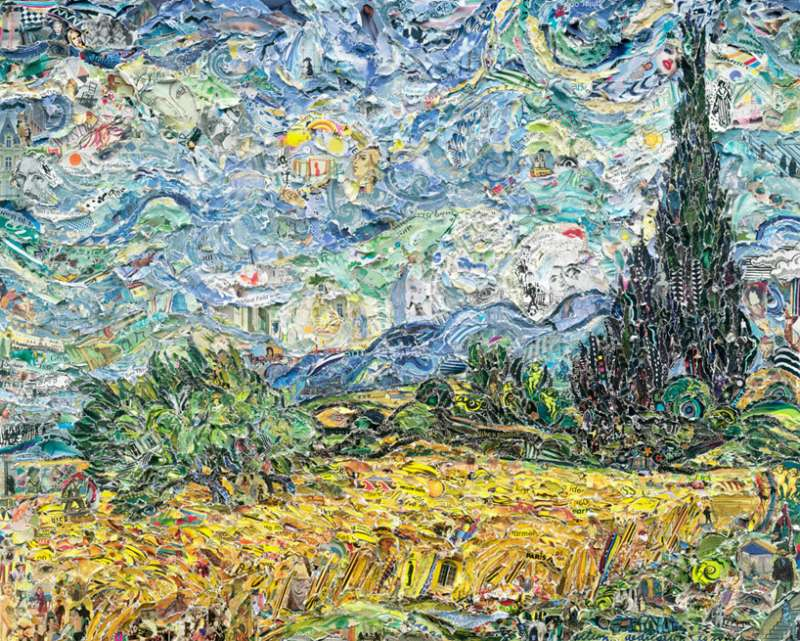 wheat field with cypresses – 梵谷