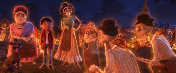 米格在亡靈節遇到了去世的家人。(圖/澎湃新聞提供)