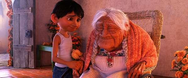 米格和曾曾祖母Coco(圖/澎湃新聞提供)