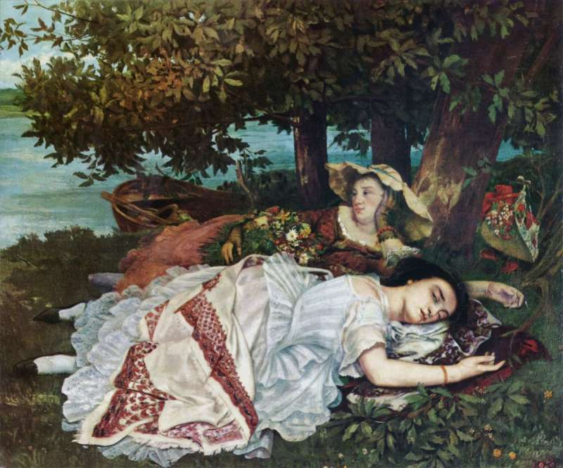 罪過罪過。Gustave Courbet:Young Ladies On The Banks Of The Seine(圖/*CUP提供)
