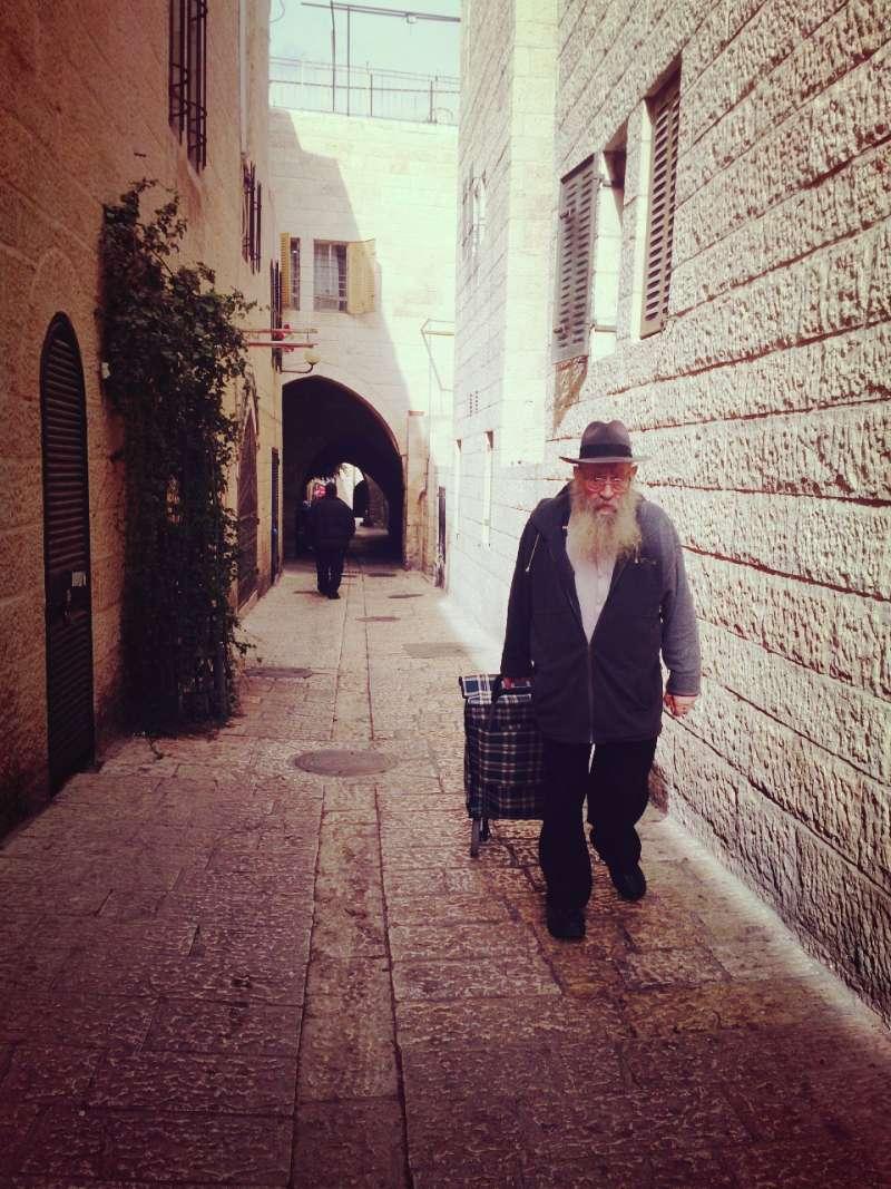 耶路撒冷舊城街景。(攝影:中東流浪者)