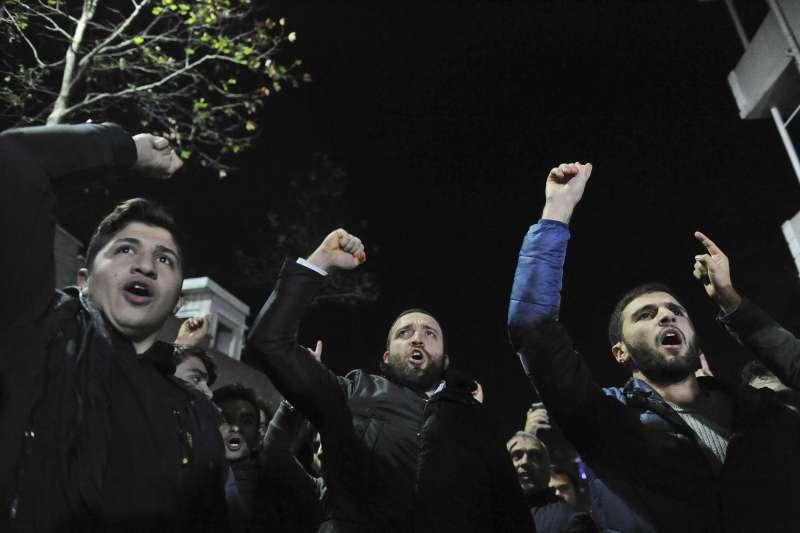 2017年12月6日,美國總統川普宣布承認「耶路撒冷是以色列首都」,引發各國穆斯林激烈抗議。(AP)