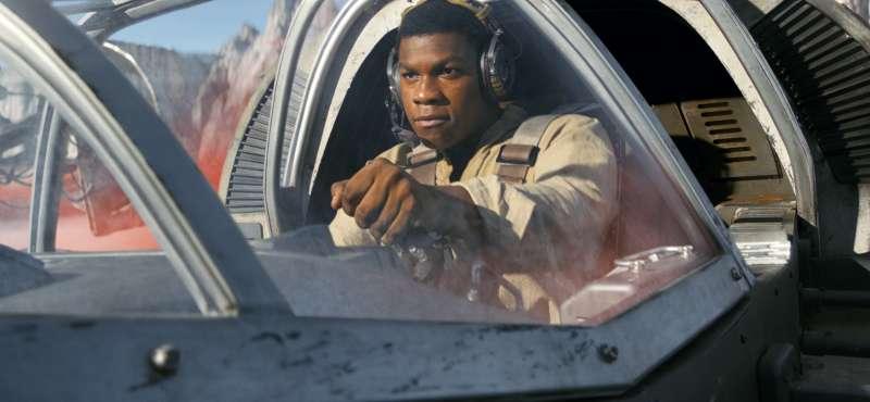 《星際大戰八部曲:最後的絕地武士》中的角色芬恩(Finn)。(美聯社)