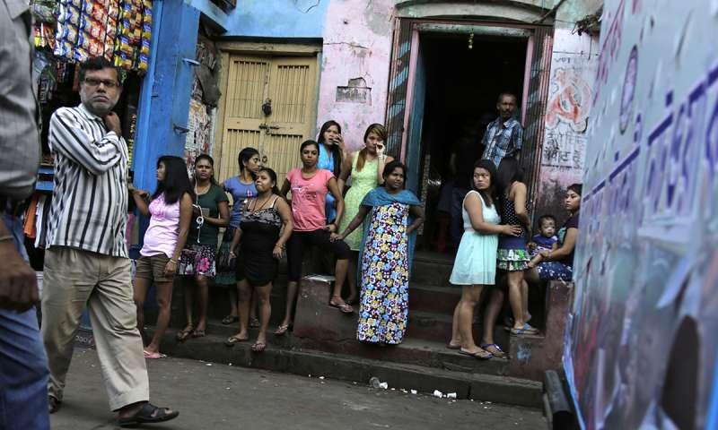 印度加爾各答「索納加奇」紅燈區的女子(AP)