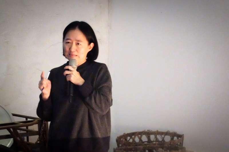 鷺江國小教師翁麗淑。(謝孟穎攝