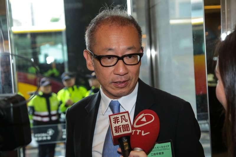 LU20171212-晶華集團董事長潘思亮12日出席「中華民國工商協進會工商早餐會」。(顏麟宇攝)