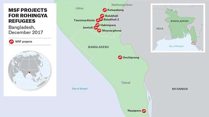 無國界醫生在孟加拉難民營對逃離緬甸的羅興亞人進行訪問。(取自無國界醫生)