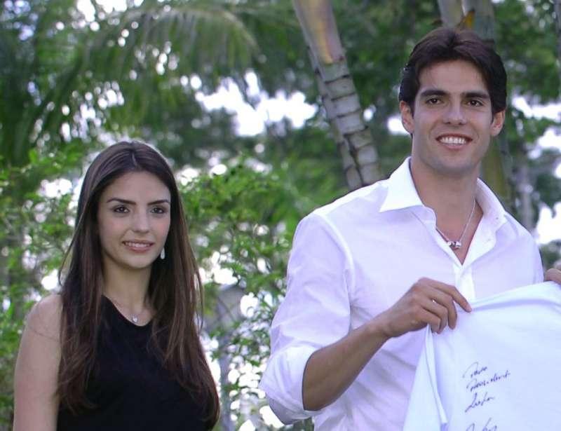 卡卡與前妻卡羅琳。(圖/José Cruz@wikipediaCCBY3.0)