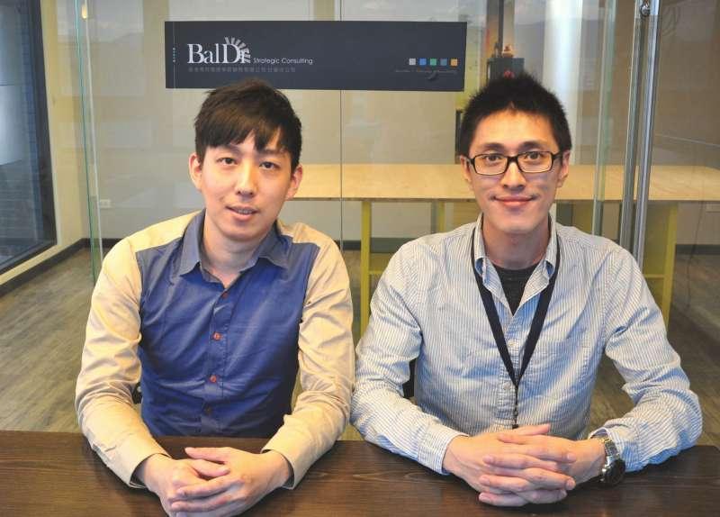 貝爾德創辦人劉昀昇(右)、郭彥琦(左)(圖/張瑋容提供)