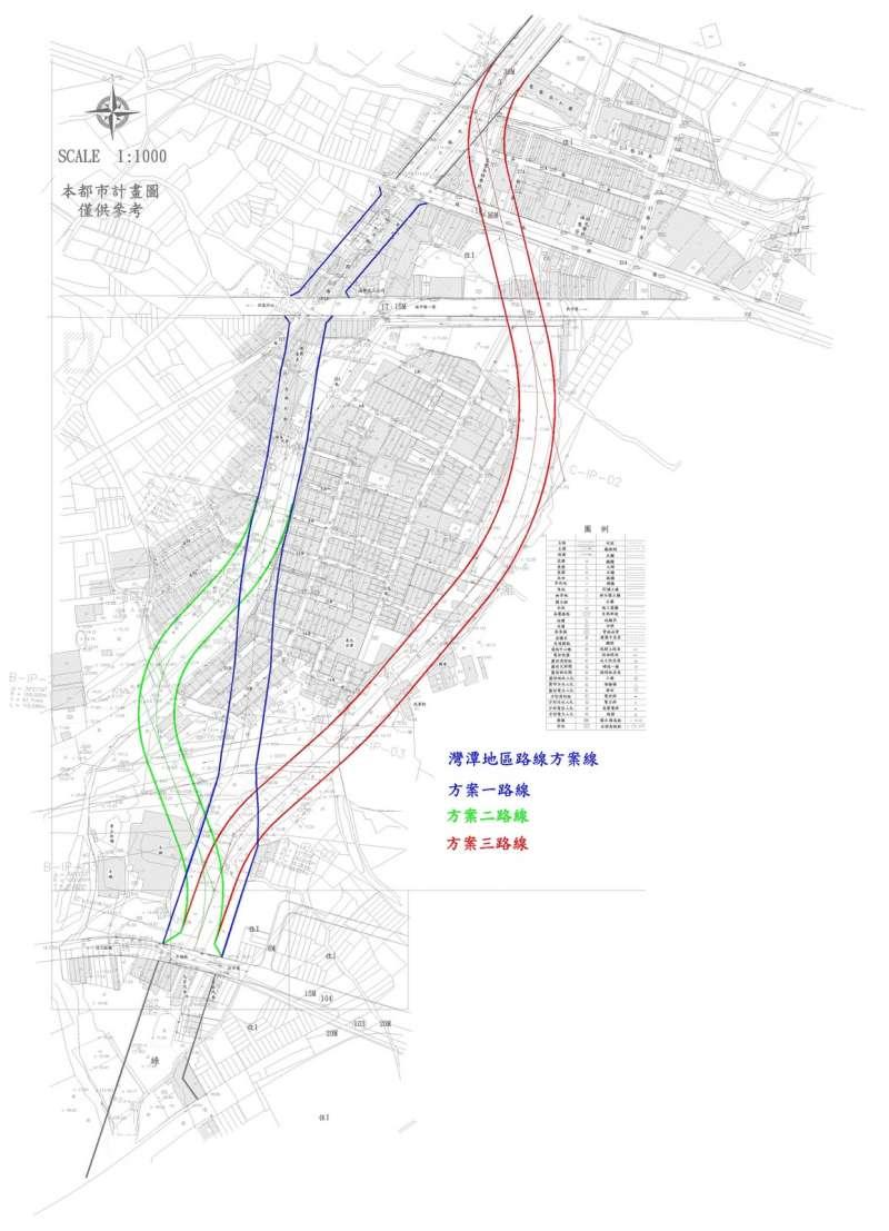 在20多年前,新竹市政府本來有三個路線方案,而在2010年竹市府以「直線方案」作結,因此抗爭再度浮上檯面。(公道三討公道陣線提供)