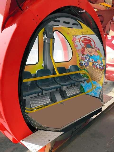 摩天輪的車廂內部。(圖/潮日本提供)