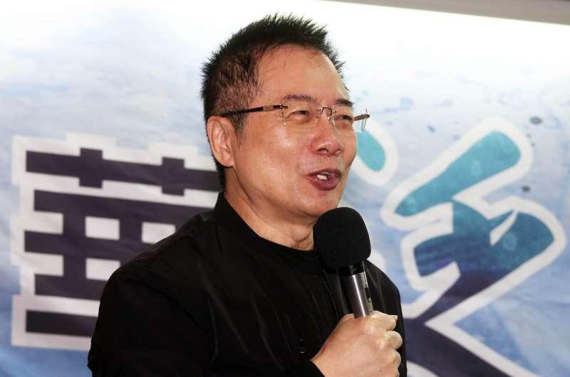20180102-中華泛藍聯盟上午舉辦新舊總召交接,國民黨前政策會執行長蔡正元出席。(蘇仲泓攝)
