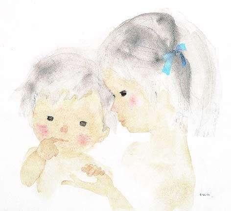 岩崎知弘,大姊姊與小弟弟,1971(圖/© 知弘美術館,城市美學新態度提供)