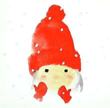 岩崎知弘,戴紅色羊毛帽子的女孩,1972(圖/© 知弘美術館,城市美學新態度提供)