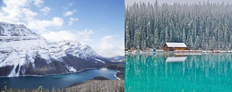 壯麗連成一線的山景,在翠綠湖泊上的倒影,真的是如詩如畫般的優美(圖/女子學提供)