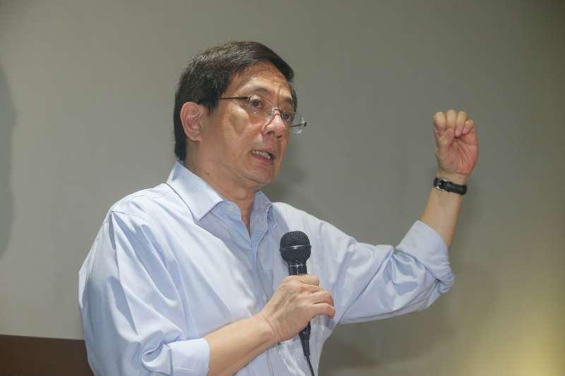 20180107-台大準校長管中閔與媒體茶敘,侃侃而談他的治校理念及方式。(陳明仁攝)