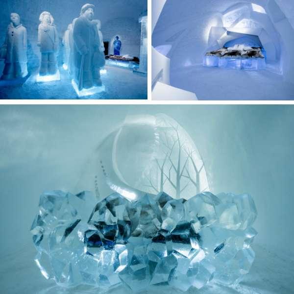 Ice Hotel 從建築到室內全都用冰雪打造而成,利用太陽能使室內恆定為零下五度,讓你在極地冬天也可以不會失溫。(圖/Asaf Klige Ice Hotel Jukkasjärvi)