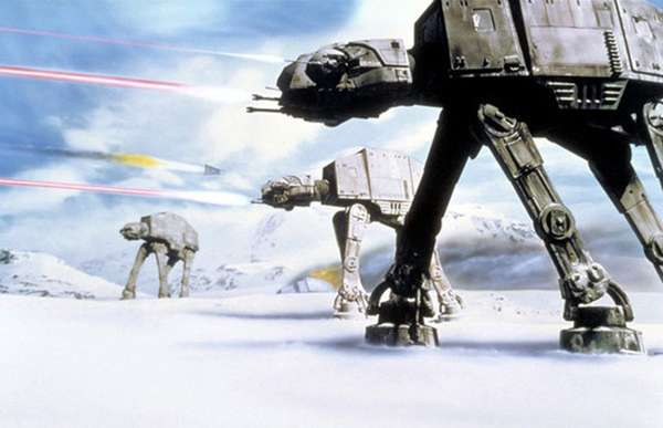 影片中的冰雪世界Hoth。(圖/澎湃新聞提供)