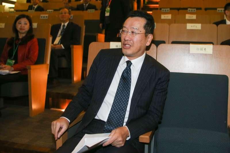 顧立雄,金管會主任委員出席2018投資台灣高峰論壇。(陳明仁攝)