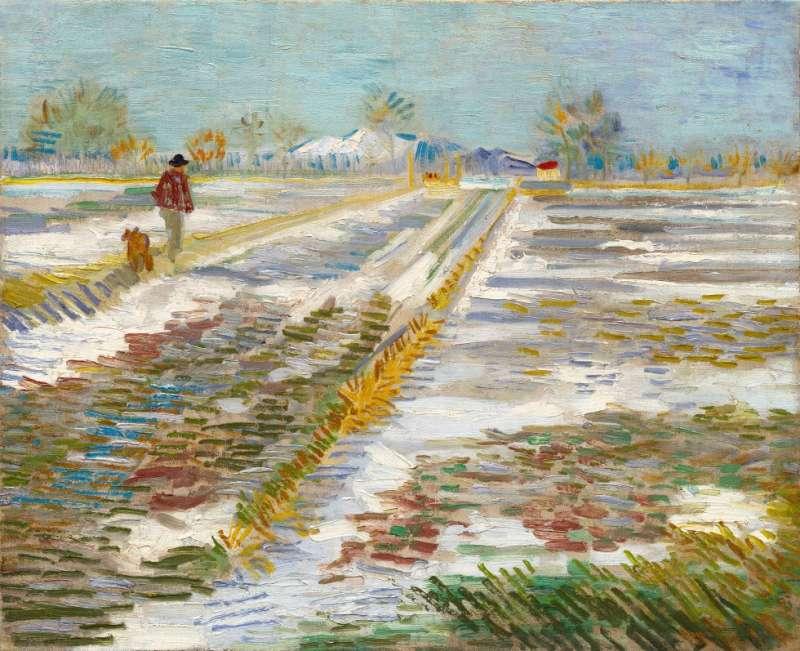 荷蘭畫家梵谷的名畫《雪景》(Wikipedia/Public Domain)