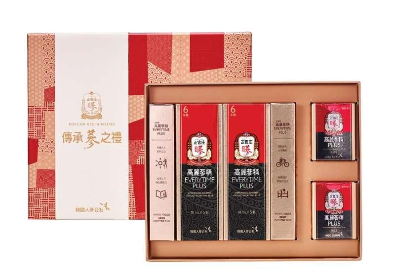 傳承 ET_P5包4盒+蔘精30g(圖/正官庄提供)