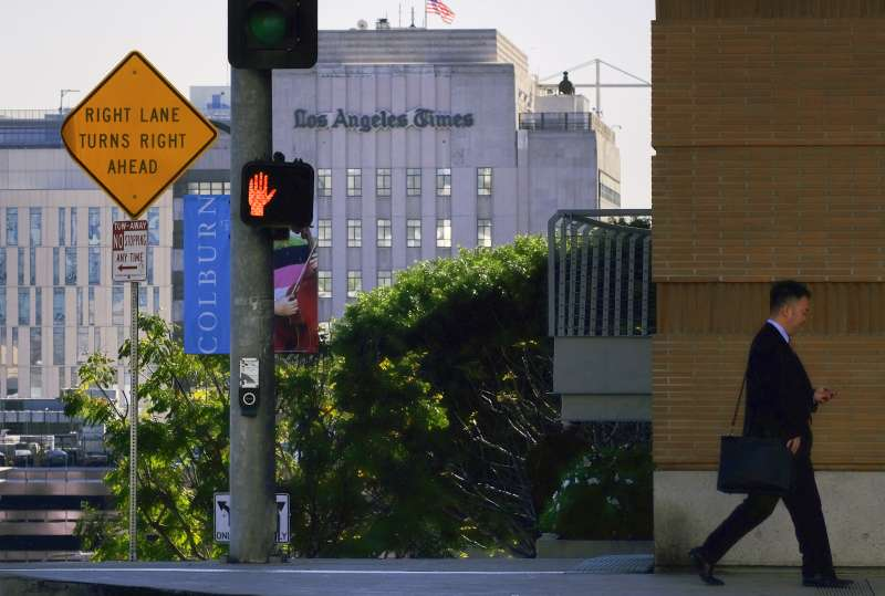 《洛杉磯時報》總部(AP)