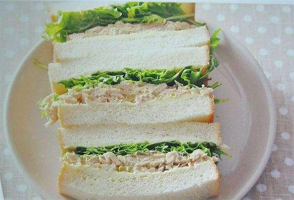 【鮪魚蔬菜三明治】(圖/學研出版社,華人健康網提供)