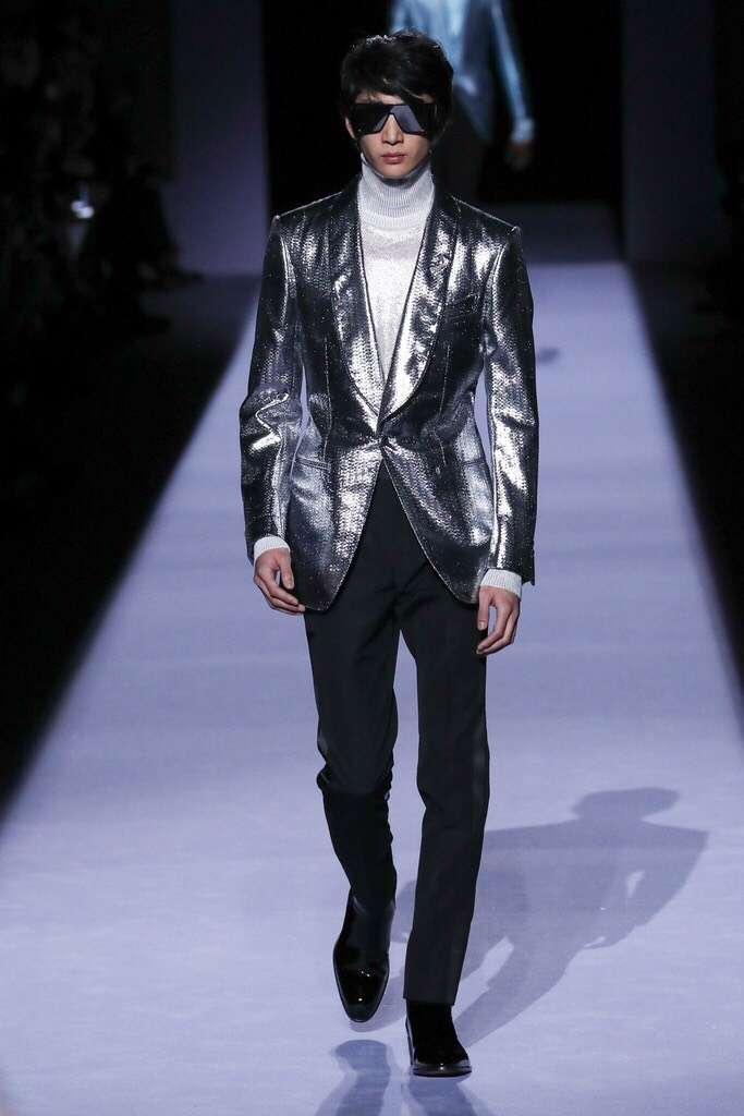 紐約時裝周:韓裔男模Bom Chan Lee(廖育婉提供)