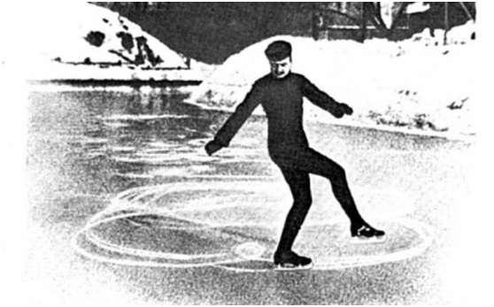 1908年奧運會,尼古拉•帕寧•科洛緬金在參加規定圖形比賽中。(圖/澎湃新聞提供)