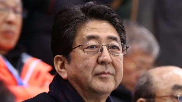 NBC主播雷默說,曾經在1910-1945年佔領韓國的日本是韓國重要的「轉型」樣本,圖為日相安倍晉三。(BBC中文網)