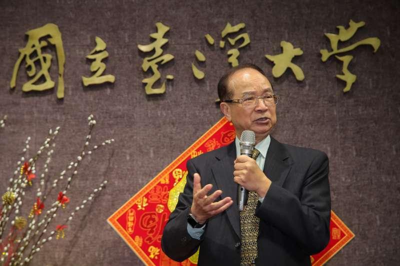 20180222-前台大校長陳維昭22日出席台大春節團拜。(顏麟宇攝)