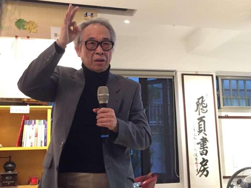 作家李喬曾於2016年「重現二七部隊」研討會演說表示,二七部隊的一個意義在於讓台中市區人民免於遭受國民政府無差別屠殺。(取自李喬書房臉書)